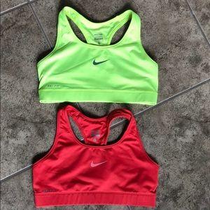 Nike Pro Sports Bras Lot of 2